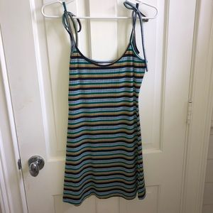 URBAN OUTFITTERS stripe bodycon dress